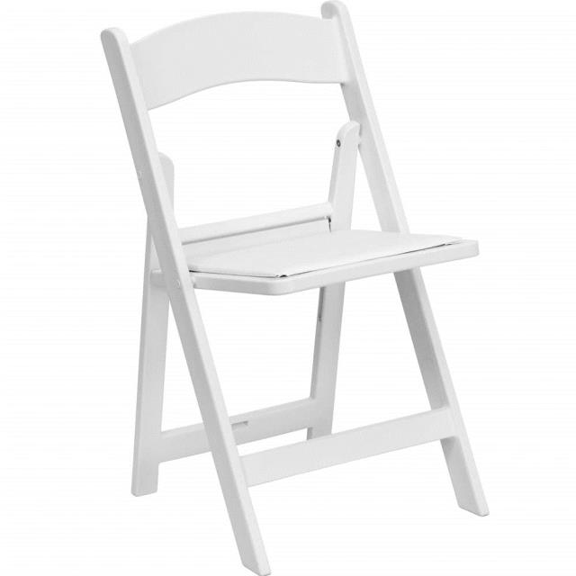 Where to find Chair, Folding, White w  Padded Seat in Honesdale