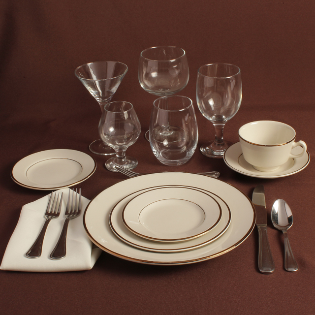 Rent Ivory & Gold Place Setting