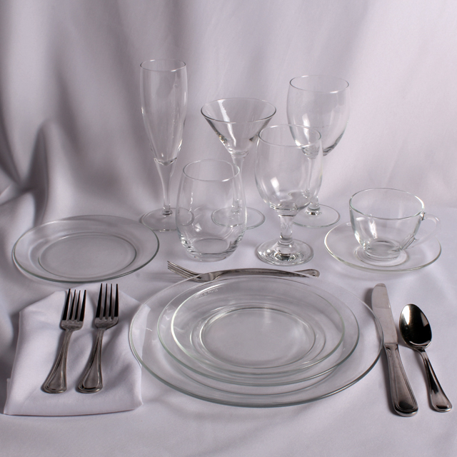Rent Parisian Clear Place Setting